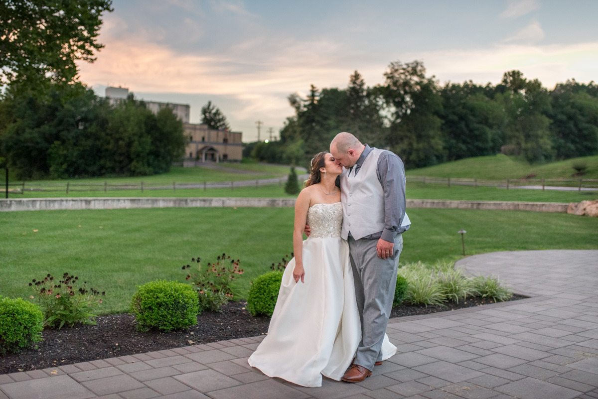 Sunset portrait Sunnybrook ballroom wedding pottstown wedding photographer