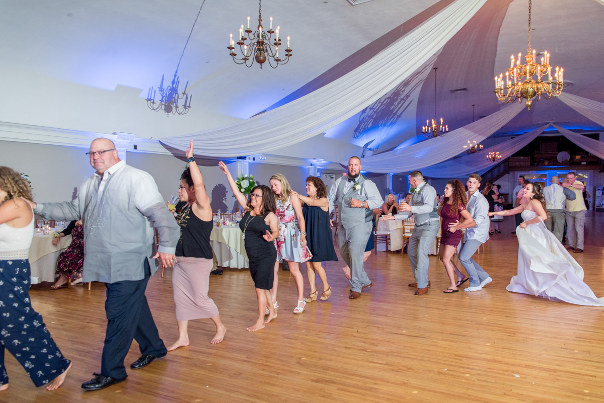 conga line reception sunnybrook ballroom wedding