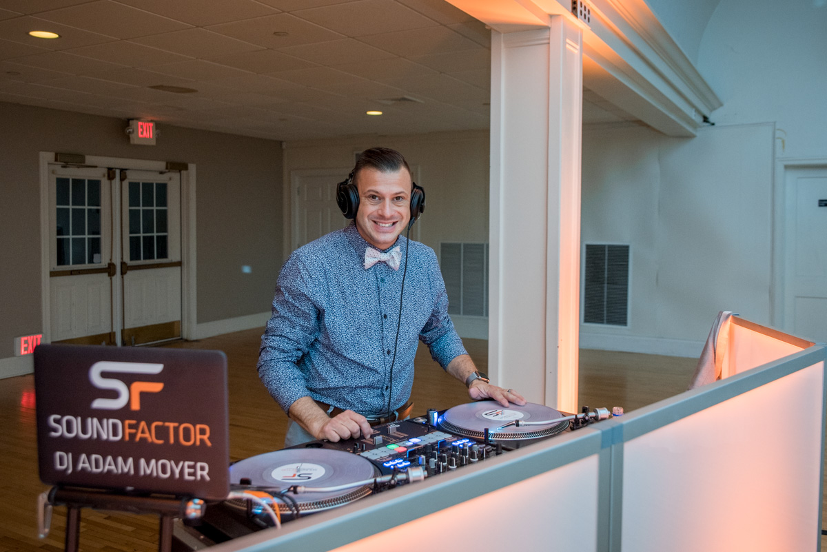 sound factor DJ Adam Moyer Pottstown wedding DJs