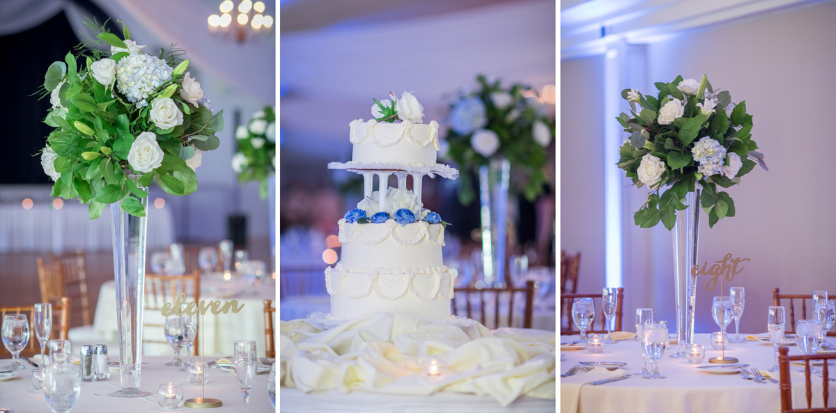 Limerick Florist wedding flowers and Beverly's Pastry shop wedding cake