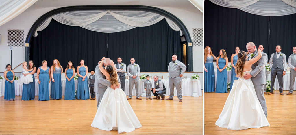 bride and groom first dance sunnybrook ballroom pottstown wedding