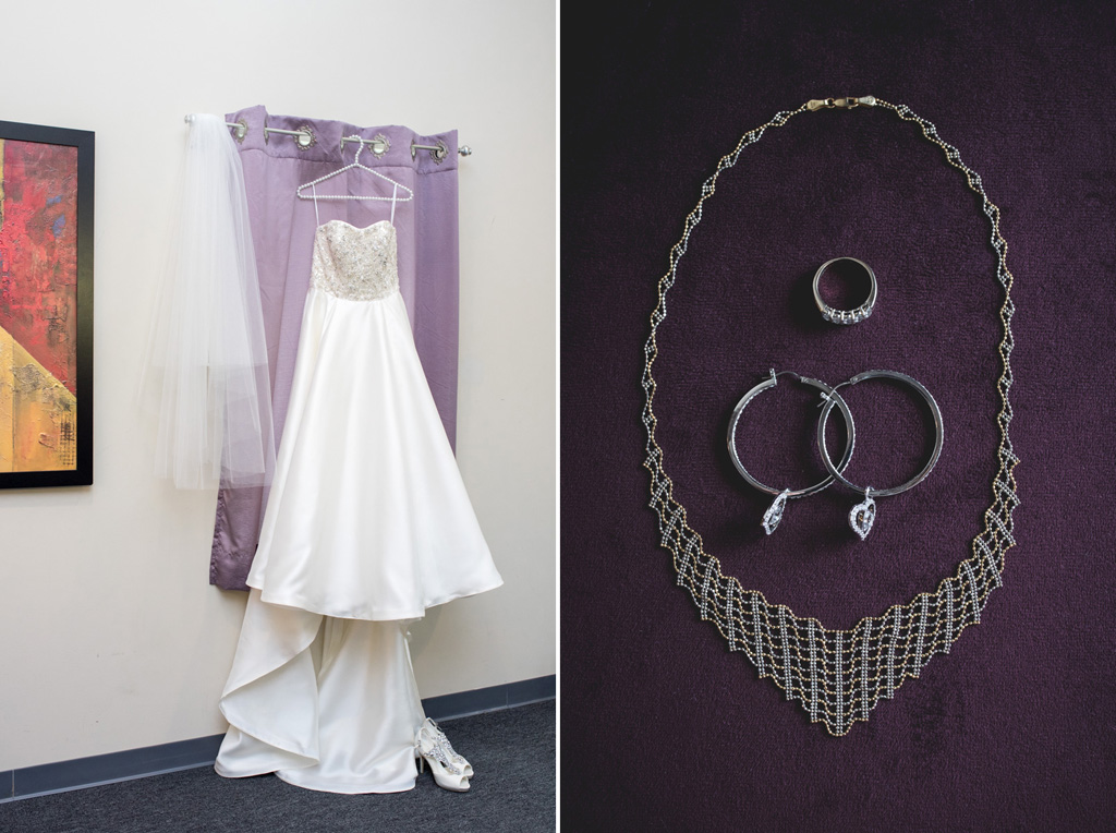 Must have wedding photos brides dress hanging jewelry