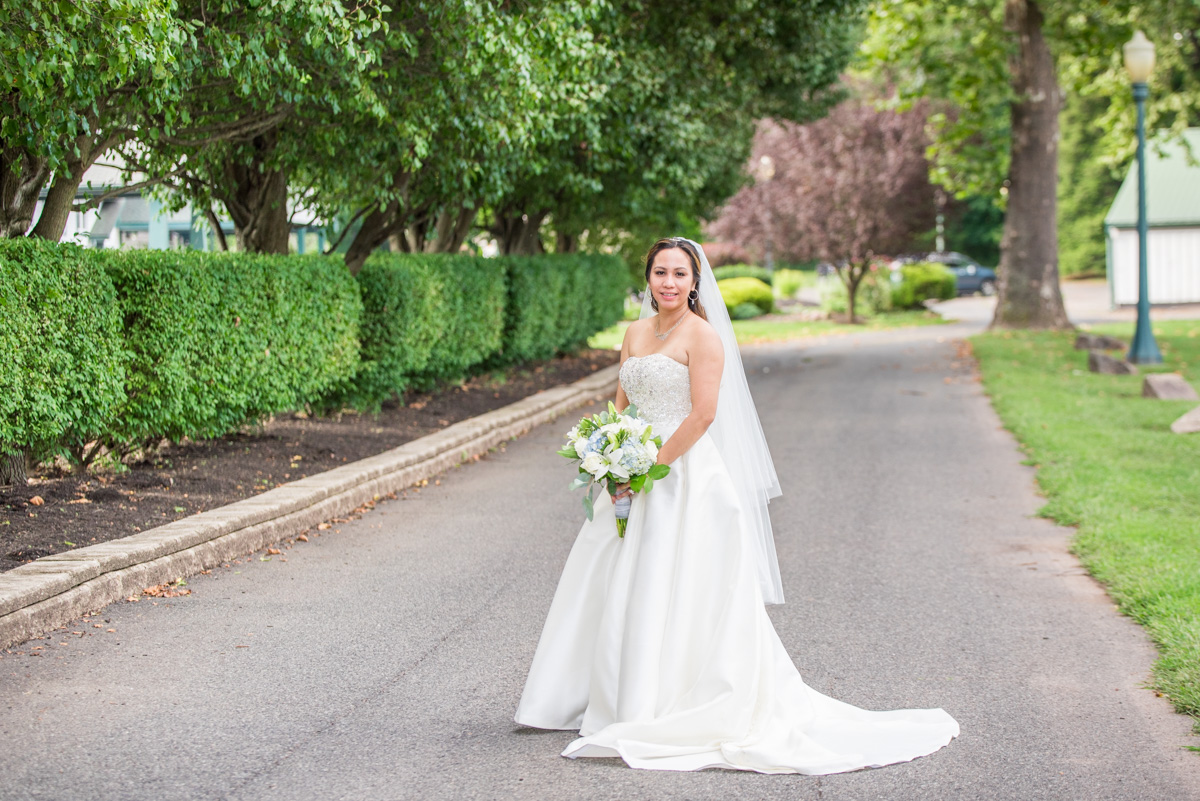 bride portrait Sunnybrook ballroom wedding pottstown wedding photographer