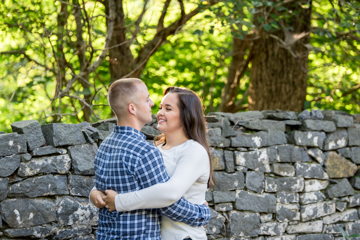 Chester county engagement photo session at saint peters village PA