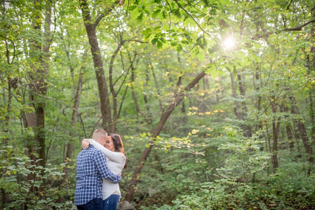 Saint Peters engagement photos on the hiking trail