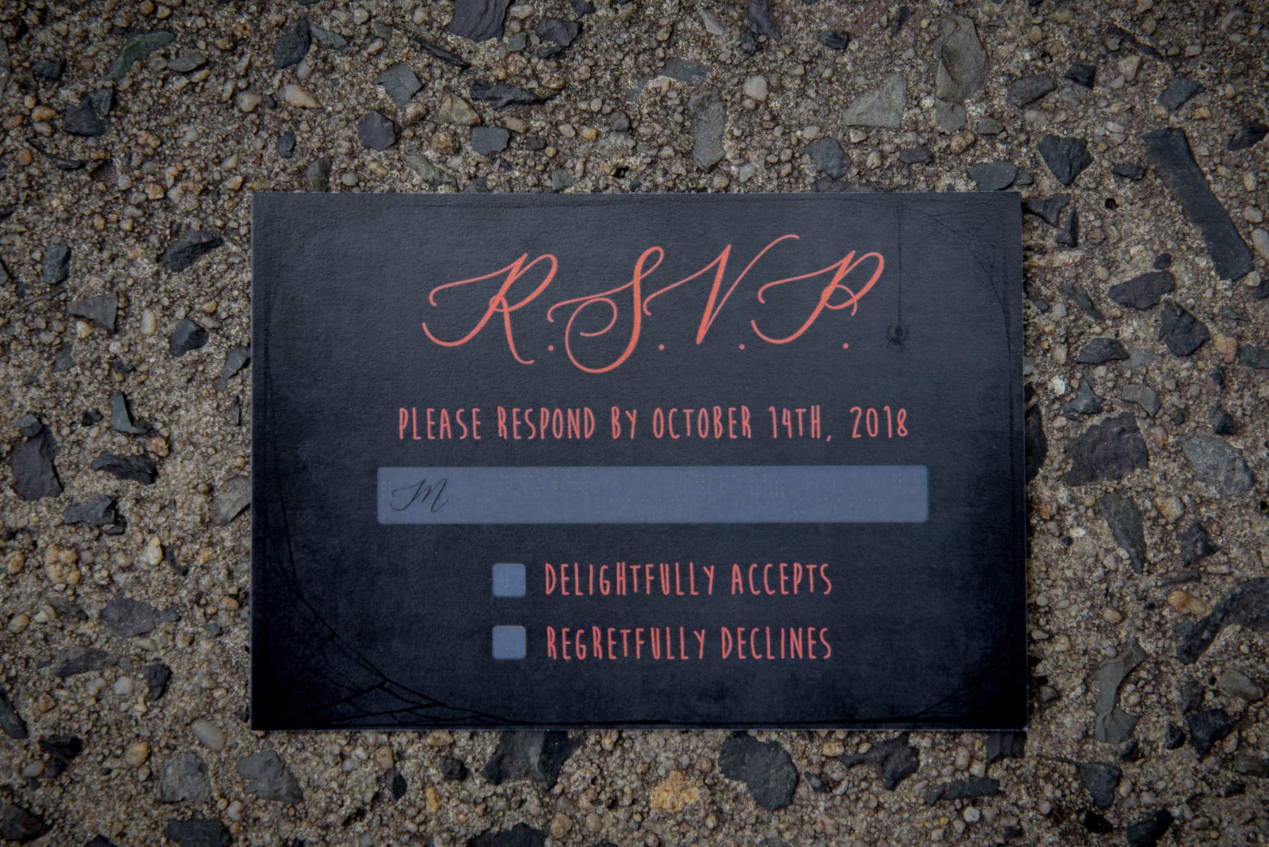 Halloween invitations invites rsvp envelopes