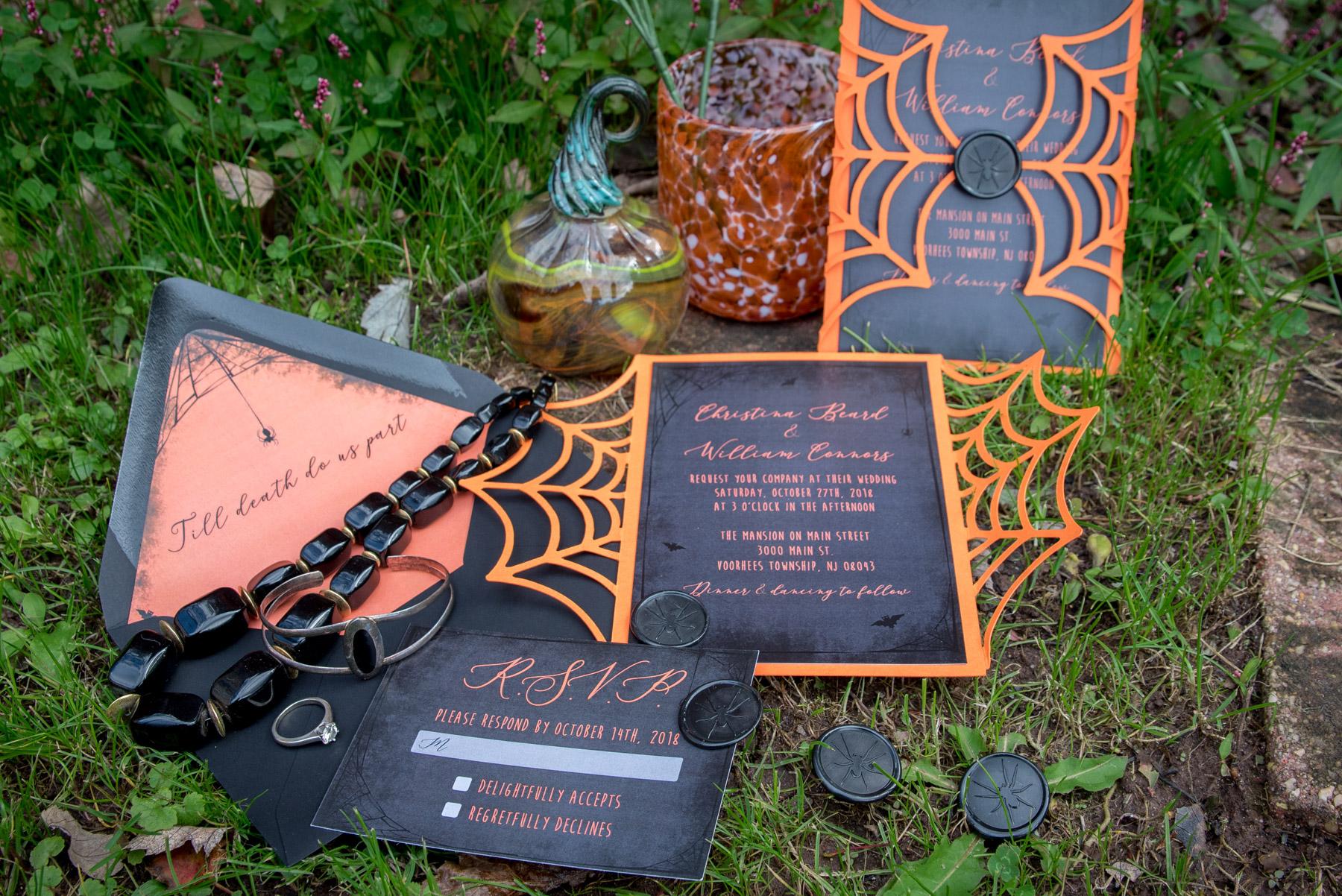 October wedding styled shoot halloween