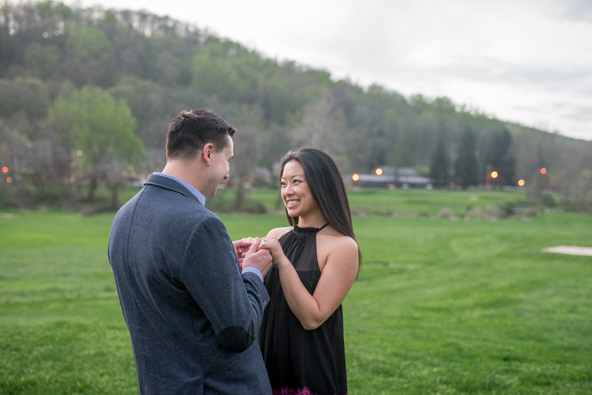 get engaged pocono mountains photography