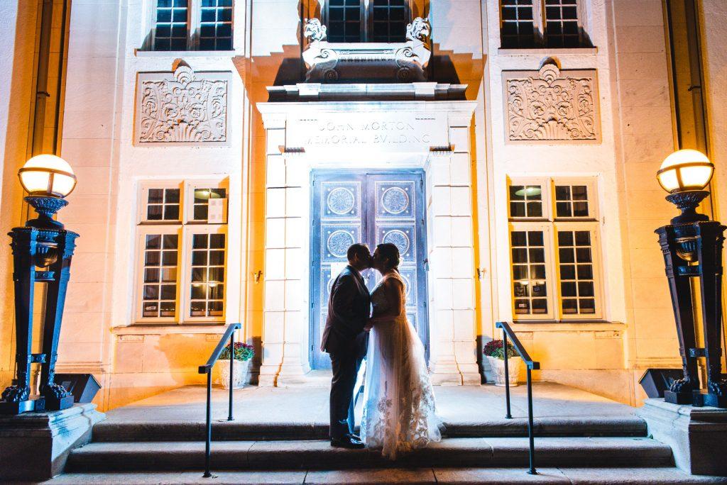 American Swedish Historical Museum wedding night photo